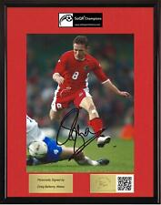 Craig Bellamy, Wales, SOQR CHAMPIONS with autographed photo & CoA