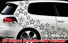 66 Sterne Star Auto Aufkleber Set Sticker Tuning Shirt Stylin WandtattooTribel q