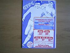GAINSBOROUGH TRINITY v BURTON ALBION Northern Premier League Cup semi 1986-87