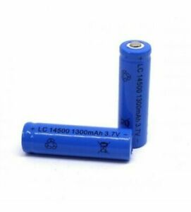 LC 14500 1300mAh Battery 3.7 V Blue Rechargeable Powerful Battery
