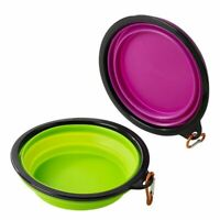 Juvale 2 Pack Collapsible Dog Bowl, Silicone Pet Bowel, for Pets Food Feeding