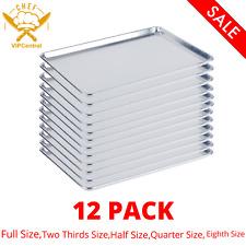 12 Pack 19 Gauge Wire In Rim Aluminum Bun Sheet Pan Baking Cookie Tray Oven Rack