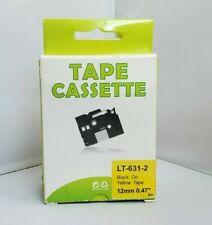Tape Cassette Lt 631 2 P Touch Label Maker Tape 12mm Black Yellow Tape 2 Pack