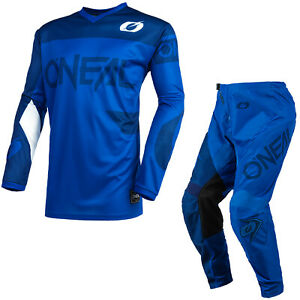 ONeal Element Racewear 2021 Motocross Suit Blue MX Off Road Jersey Pants Kit