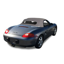 Porsche Boxster 1997-02 Convertible Soft Top & Heated Glass Window Gray Cloth