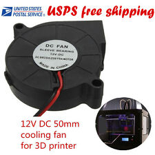 3D 50X50X15mm Printer Accessories cooling fan Blow Radial 12V DC 50mm USA