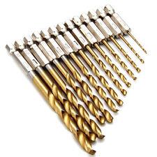 13-tlg HSS-Bohrer-Satz Bit Titan beschichtet Hex Metall  1,5-6,5 mm Sechskant