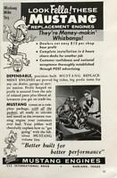 1961 Mustang Engine Rebuilders Garland Texas Print Ad Mustang Mike Sez