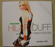 HILARY DUFF descubre a H D en metamorphosis RARE SPANISH PROMO CD-ROM / DVD 2003