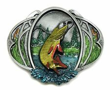 Fishing Belt Buckle Pike 3D Fish Design Authentic Bergamot Branded Product