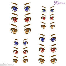 Obitsu 27cm Body 1/6 Dollfie Doll head Fashion Eye Decal Sticker 28 (12 pairs)