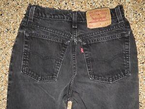 Vtg Levi's 512 High Rise Slim Fit Tapered Black Jeans 9L 27W x 32L USA MADE