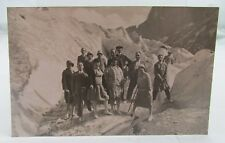 ANTIQUE PHOTO POSTCARD~ALPINE CLIMBING/SKIING~MONT BLANC/CHAMONIX~ALFRED COUTTET