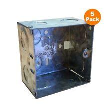5 x Single Metal Back Box Depth 47mm  Wall Pattress 1 Gang Electrical Sockets