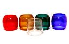 5 Glass Globe Party Set For Dietz and Embury #40 Traffic-Gard Lanterns FREE SHIP