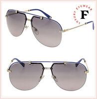 CHRISTIAN DIOR CROISETTE 4 Gold Blue Grey Gradient Aviator Sunglasses Unisex