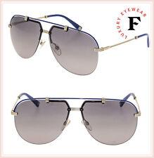 6b2f1fd8a3 Christian Dior CROISETTE 4 Oro Azul Gris Degradado Aviador Gafas De Sol  Unisex