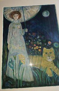 JUDITH BLEDSOE Jealous Tiger Original Signed & Numbered Lithograph 164/300
