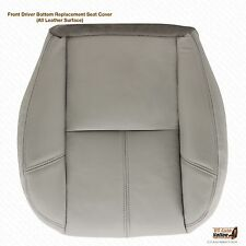 2007-2008 GMC Sierra 1500 2500 3500 Denali Driver Bottom Leather Seat Cover Gray