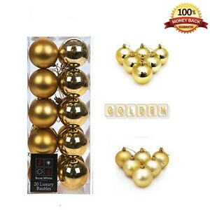 Christmas Tree Decoration Luxuary 9x 60mm Baubles Ball Home Party Ornament Gold