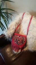 Woman's Bag / Cross body / Eccentric / Hand Made / Genuine Leather / Fringe