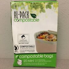 Al-Pack P-RGBC1716COMP Compostable Kitchen Food Waste 20 2.6 gal. Compost Bags