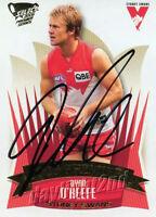 ✺Signed✺ 2005 SYDNEY SWANS AFL Premiers Card RYAN O'KEEFE
