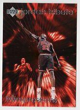 Michael Jordan 1997 UD TRIBUTE IMPRESSIONS EYE POPPING 55 Points Basketball Card