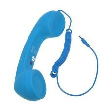 Blue Retro Handset With Volume Remote Control For iPhone 4 4S Samsung