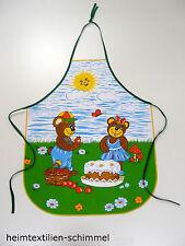 Kinder Schürze Kochschürze Backschürze Küchenschürze Kinderwerkschürze BÄREN