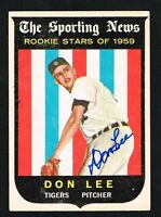 Don Lee #132 signed autograph auto 1959 Topps Baseball Trading Card