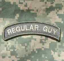 REGULAR GUY TAB ARMY COMBAT TACTICAL ACU LIGHT VELCRO® BRAND FASTENER PATCH