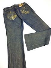 Apple Bottoms Jeans Gold Denim Stitch Throughout Embellished Womens 31 x 33