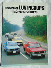 Chevrolet USA LUV Pickups 4x2/4x4 Series brochure Nov 1979 Japan market