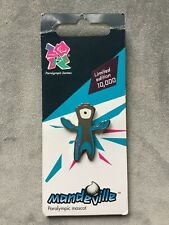 MANDEVILLE POSE PIN BADGE London 2012 Olympic Games on official card