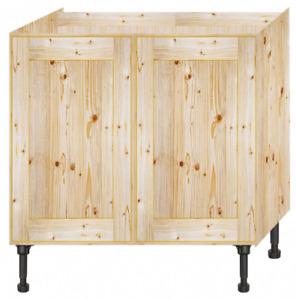 Handmade Bespoke made to measure solid Pine Kitchen unit 1000 mm 2 Doors Ref 4