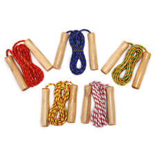 1PC Skipping Rope Practice Jump Wood Grip Handle Kids Fitness Equipment  JG .p