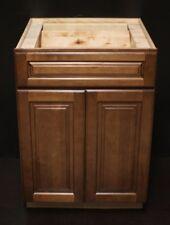 "Kraftmad 24"" Cognac Maple Kitchen Base Cabinet / Bathroom Vanity Sink"