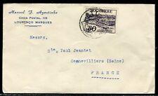 Mozambique - Enveloppe commerciale de Lourenço Marques pour la France en 1951 -