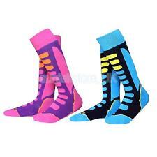 2Pairs Kids Winter Thermal Long Ski Snowboarding Hiking Sport Socks EU 27-30
