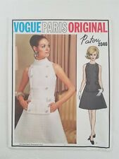 Vogue Paris Original 1960s Sewing Pattern #2046 Patou Uncut Sz 10 Bust 32.5""