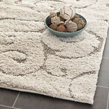 "Safavieh CREAM / BEIGE  Shag  2' 3"" x 10' Runner"
