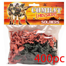 400pc Combat Force Soldiers Army Battle Plastic Play Set Kids Children Toy Gift