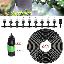 Garden Patio Water Mister Air Misting Cooling Micro Irrigation System w/ Nozzle