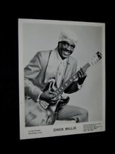 ORIGINAL 70s LA VAL RECORDS CHICK WILLIS Publicity 8x10 CHITLIN CIRCUIT AUSTIN