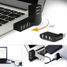 Mini 3 Port USB 3.0 Rotating Splitter Adapter Hub For PC Laptop Notebook 1PC