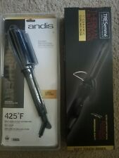 """Tresemme Thermal Creations 1"""" Curling Iron Soft TouchSeries /Andis Ceramic Brush"""