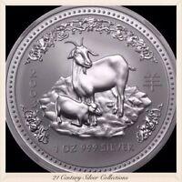 2003 Australia 1 Oz Silver Lunar Series One Year Of The Goat