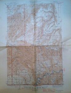 USGS  Topographic Map  1946 Saddle Butte Garfield & Asotin Co. Washington State