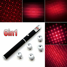 100Miles Tactical 650nm Red Laser Pointer Pen 6in1 Beam Light Laser+5*Star Caps